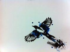 Watercolour Magpie