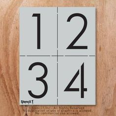 These number stencils are 4″ tall and come in a set of 3 sheets. Use them to stencil your house address, mailboxes, and more! Watch our how to video at http://www.stencil1.com/how-to All Stencil1 stencils are laser cut on mylar, a washable and reusable material similar to plastic. Our
