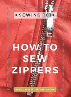 Sewing beginners - Open Ended Zipper - Sewing Zippers - The Creative Curator