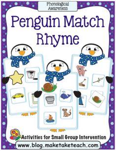 PengRhypg1reduced Snow Activities, Rhyming Activities, Kindergarten Math Activities, Preschool Learning, Kindergarten Classroom, Free Preschool, Preschool Printables, Group Activities, Classroom Themes