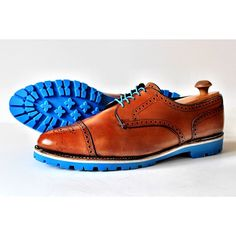 Resoled and restored cognac brown Allen Edmonds captoes with white midsoles and classic baby blue Commando soles from @Tamas Pomazi. Resole yours today through www.greenwichvintage.us/shop, @martinpatrick3, @standardandstrange, @Blank Canvas, @Ball and Buck and @Sir & Madame.  #ootd #ootn #ootw #gq #fashion #mens #menswear #allenedmonds  #shoeporn #wingtips #coloredsoles #resole #teamgreenwich #teamgreenwichin2013 #madeinusa #madeinamerica #mpls #minneapolis #minnesota…