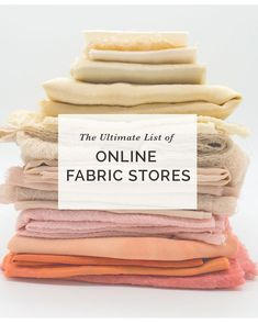 The Ultimate List of Independent Online Fabric Stores! Hello everyone! Amy here. I have been putting together this fabric store list…forever. The problem with it being, it's never Sewing Hacks, Sewing Tutorials, Sewing Crafts, Sewing Tips, Sewing Blogs, Craft Tutorials, Sewing Ideas, Craft Ideas, Dressmaking Fabric