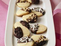 Plätzchen mit Schokolade