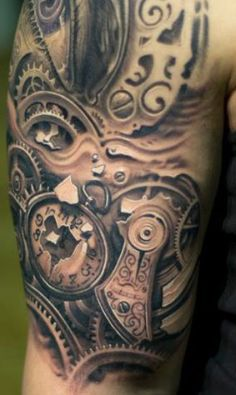 Tattoo Artist - Victor Portugal | www.worldtattoogallery.com/biomechanical_tattoo