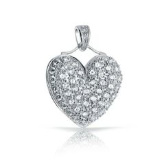 Bling Jewelry Pave Cubic Zirconia Heart Pendant 925 Sterling Silver Bling Jewelry. Save 52 Off!. $44.99. Weighs 4 grams. Cubic Zirconia stones. Heart Pendant. Chain is not included. .925 Sterling Silver