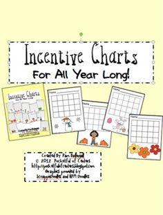 A Year of Incentive Charts Behavior Incentives, Classroom Behavior Management, Class Management, Incentive Charts, School Days, School Stuff, Positive Behavior, Kindergarten Teachers, Activities For Kids