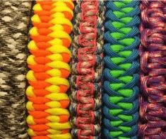 Learn the different Paracord Weaves, and How to make a Paracord Bracelet, lanyard or keychain. There are many different Paracord Bracelet Patterns, he...