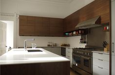 henrybuilt dark cabinets plus white