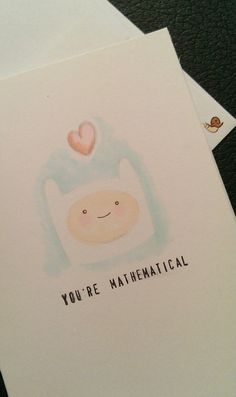 Finn Adventure Time Valentine Card by ShelbyGoelz on Etsy, $5.00