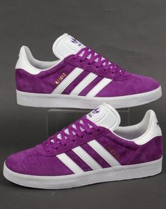 c4cdb24c50a Adidas Gazelle Trainers in Purple White. A Popular suede shoe from the  Adidas archives. We stock many more Adidas Gazelle colours online.
