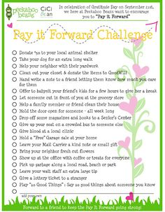 Pay It Forward - Cici Bean http://letyourheartbeyourguide.blogspot.ca/