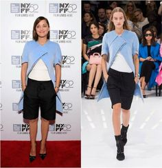 Marion Cotillard wears Dior Spring 2015 at the 'Time Out Of Mind' premiere during the New York Film Festival.