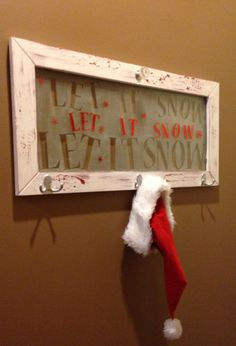 LET IT SNOW Window Art Decor With Hooks by FinishedRoomStudio, $69.99
