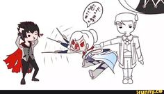 RWBY Qrow, Winter, and Ironwood in a nutshell