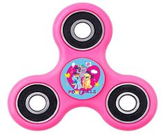 Girls Pink My Little Pony Inspired Fidget Spinner with Assorted Character Decals