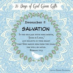 Little Birdie Blessings : 25 Days God Given Gifts - Day 8