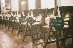Love is Patient Signs for Wedding Aisle by cattiescorner on Etsy