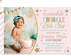 Púrpura Twinkle Little estrella invitación por printablecandee
