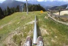 Sådan kommer du hurtigst ned af en bjerg i Østrig (UDEN BREMSER!!!) Fastest way downhill..from Austria.