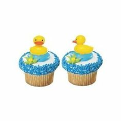 Amazon.com: 12 ct - Yellow Duck Ducky Duckie Cupcake Picks Cake Topper Decorations: Everything Else