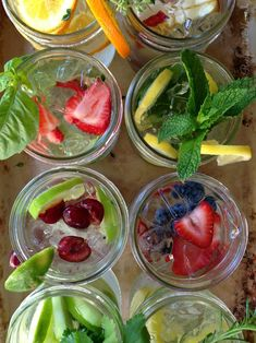 When the heat goes up, enjoy these simple, healthy, hydrating infused water recipes. They're beautiful to look at and so delicious too! Juice Recipes For Kids, Flavored Water Recipes, Healthy Juice Recipes, Juicer Recipes, Healthy Juices, Healthy Drinks, Paleo Recipes, Real Food Recipes, Yummy Food