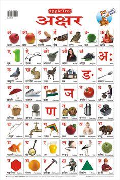 hindi alphabet varnamala chart free print at home hindi alphabet and number charts hindi. Black Bedroom Furniture Sets. Home Design Ideas
