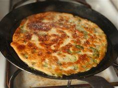 Homemade scallion pancakes... Mmmmmm :) a lot of great info on dough making too!