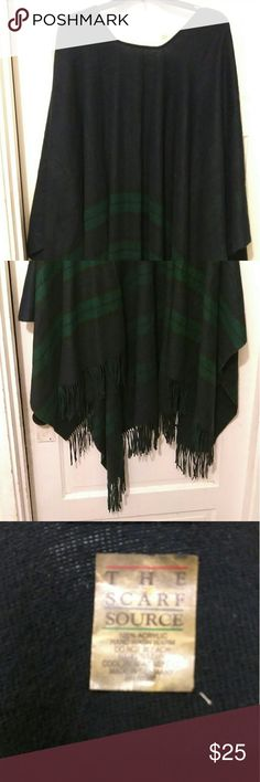 Coverall navy blue and green Navy Blue and green  with fringes one sizes first all up to a 6 x Jackets & Coats Capes
