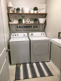 small laundry room remodel 15 Mind-Blowing Small Laundry Room Ideas Must You Try Small laundry room organization Laundry closet ideas Laundry room storage Stackable washer dryer laundry room Small laundry room makeover A Budget Sink Load Clothes Laundry Room Shelves, Laundry Room Remodel, Small Laundry Rooms, Laundry Room Organization, Laundry Room Design, Laundry In Bathroom, Basement Laundry, Laundry Decor, Laundry Room Decorations