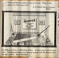 In case you've been dying to re-create an early 1900s Hoover window display.