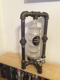 Domain Canton Bottle/Black Iron Pipe Desk Lamp