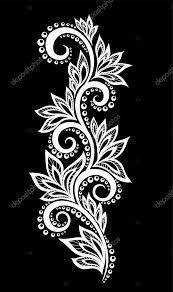 Картинки по запросу орнамент из цветов и листьев