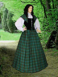 Scottish Tartan Gown Costume Traditional Dress di YourDressmaker