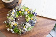 -オーダー品のご紹介- S様よりオーダーを頂きましたアイテムのご紹介です* イエローグリーンブルー… ナチュラ… Floral Wreath, Wreaths, Instagram Posts, Flowers, Home Decor, Owls, Floral Crown, Decoration Home, Door Wreaths