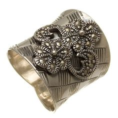 Sterling Silver Marcasite Flower Blossoms Ring $24.00