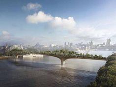 """Floating garden"" bridge to be built over the Thames"