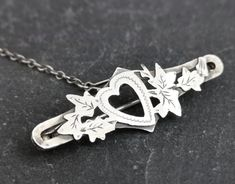 Antique Victorian silver heart brooch, sweetheart pin by StolenAttic Victorian Jewelry, Antique Jewelry, Gift Wrapping Services, Heart Jewelry, Love Heart, Brooch, Sterling Silver, Antiques, Handmade Gifts