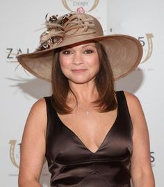 Valerie Bertinelli attends the Kentucky Derby at Churchill Downs in Louisville, Kentucky. (Photo by Jason Kempin/WireImage) Kentucky Derby Hats, Louisville Kentucky, Race Day Hats, Valerie Bertinelli, Churchill Downs, Girl Crushes, Panama Hat, My Girl, Fashion Accessories