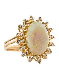 White Opal and Diamond Ring...my grandmother had a ring just like this...until it was stolen.