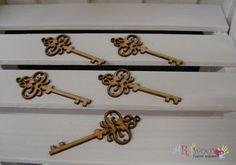 DREVENÉ VÝREZY | VINTAGE + OSTATNÉ | Drevený výrez Kľúč antik 1ks - 8x3,5cm | www.artwood.sk