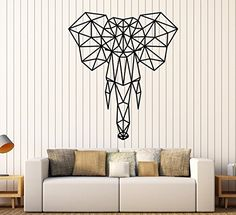 Vinyl Wall Decal Abstract Geometric African Animal Elepha... https://www.amazon.com/dp/B077NQ62B6/ref=cm_sw_r_pi_dp_x_myCfAb5FKQTJH