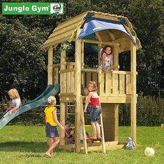 Spielturm Jungle Gym BARN mit Rutsche, Kletterwand und Sandkasten