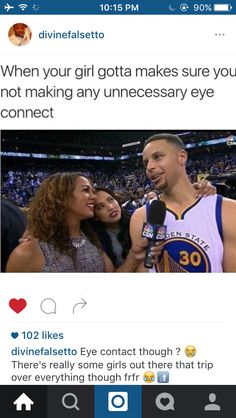 Steph Curry and Ayesha Curry Funny Nba Memes, Funny Basketball Memes, Love And Basketball, Basketball Stuff, Basketball Players, Steph Curry Memes, Best Nba Players, Top 20 Funniest, Humor