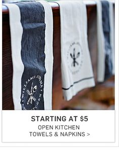 Starting At $5 Open Kitchen Towels U0026 Napkins Williams Sonoma   Eastwood  Towne Center