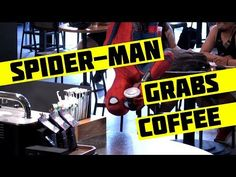 """Spider-man Homecoming """"Peter and Stan Lee Grab Starbucks"""" Trailer (2017) Prank, Tom Holland Movie HD - YouTube"""