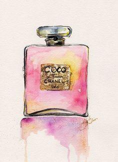 coco chanel watercolor