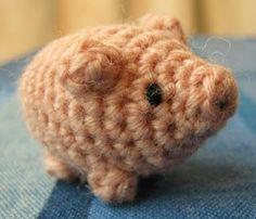 Free diagram : Pig 子豚のミニあみぐるみ(編み図付) | Mazourka-Iris