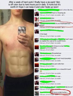 """Dump A Day Funny Pictures Of The Day - 78 Pics. That last comment! """"You have no belly button..."""" LOLZ"""