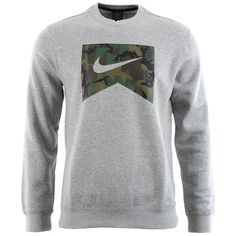 Nike Sb Foundation Camo Crewneck Sweatshirt - Dark Grey Heather/camo at Urban Industry (£52.00) - Svpply