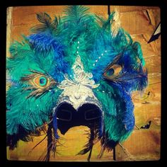 My samba headdress...made by following the instructions in the video on this board